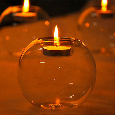 Crystal Glass Candle Holder Wedding Bar Party Meal Decor Candlestick HGUK