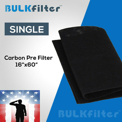 "Activated Carbon Air Filter 16""x60"" By BulkFilter"
