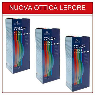 Color Clean 100Ml Soleko - Liquidi Per Lenti A Contatto Colorate - 3X2