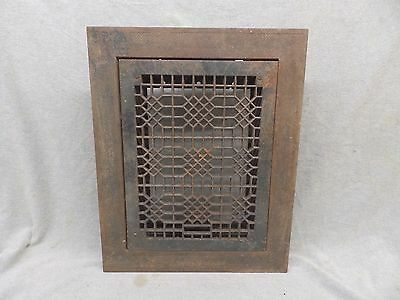 Antique Cast Iron Heat Grate Vent Register Surround Vtg Hardware 12x16 123-17P
