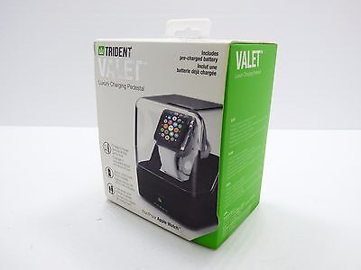 Trident  Valet Portable Luxury Charging Pedestal for Apple Watch 38mm 42mm Brown