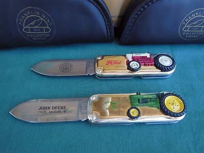 FRANKLIN MINT JOHN DEERE 1948 B FORD GOLDEN JUBILEE TRACTOR POCKET KNIFE 2pc