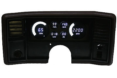 Intellitronix Monte Carlo DIGITAL DASH PANEL FOR 1978-1988 Gauges White LEDs!!