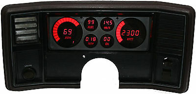 Intellitronix Monte Carlo DIGITAL DASH PANEL FOR 1978-1988 Gauges Red LEDs!!