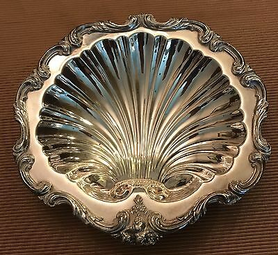W & S Blackinton Co. EPC Silver Plate On Copper Footed SeaShell Bowl Dish