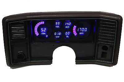 Intellitronix Monte Carlo DIGITAL DASH PANEL FOR 1978-1988 Gauges Blue LEDs!!
