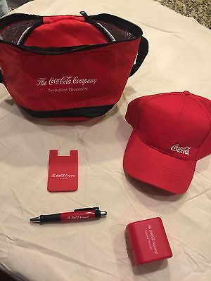 9 Piece - COCA COLA Tervis Cup, Hat, Cooler, Accessory Kit, Pen, Card Holder