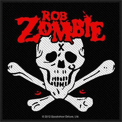 Rob Zombie - Patch - Woven Import Sew on - Skull Logo-collector's - Licensed NEW