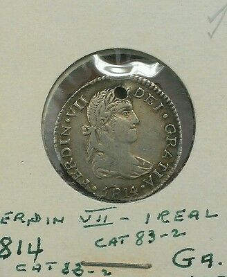 ☆☆☆☆☆☆ Mexico Ferdinand VII 1 real 1814GA MR ☆☆☆☆☆☆