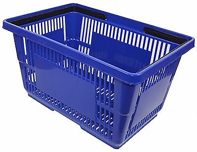 Large Blue Plastic Stackable Shopping Basket for Stores