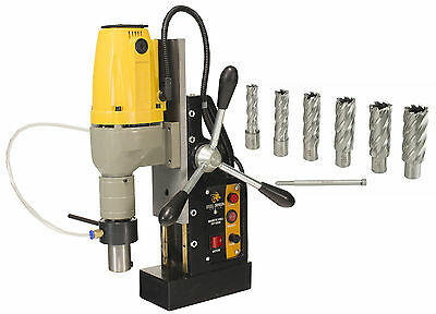 """Steel Dragon Tools® MD40 Magnetic Drill Press with 7pc 2"""" HSS Cutter Kit"""