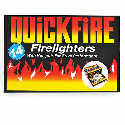 Quickfire Firelighters Burners Campfires Bonfires - Wood Chimineas
