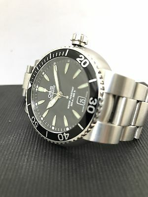 """ORIS TT1 Diver Date """"Kuwait Coat Of Arms On Caseback""""Box&Papers"""
