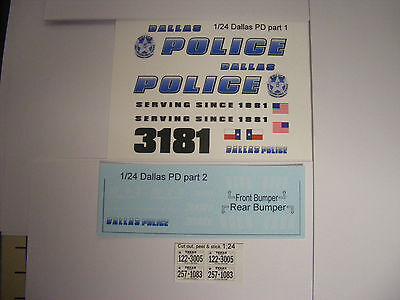 Maryland State Police 1//24 Waterslide Decal Sheet Set Fits 1:24 Diecast Models