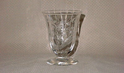 Cataract Rock Sharpe 2010-4 Footed Juice Glass Tumbler Cut Crystal Libbey