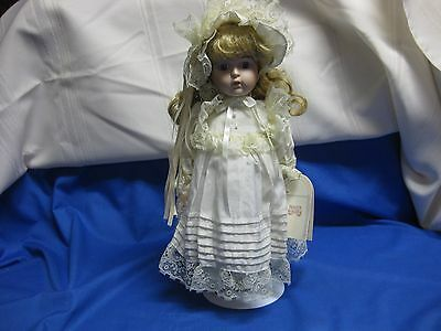 Princeton Gallery Collection Doll Bisque Porcelain 13 Inches With Tag