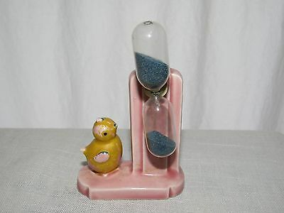 Vintage Retro Kitchen Egg Timer Chicken Yellow Pink Little Chick Made in Germany