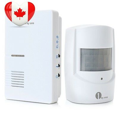 1byone Wireless Home Security Driveway Alarm, 1 Plug in Receiver and PIR...