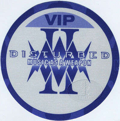 DISTURBED 2001 MUSIC AS A WEAPON TOUR BACKSTAGE PASS Drowning Pool