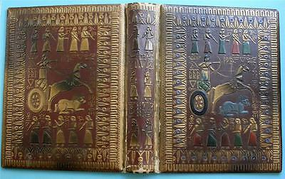 ANTIQUE WW1 Era 'ANCIENT EGYPTIAN' THEME PHOTOGRAPH ALBUM- Covers Only -24x18cms