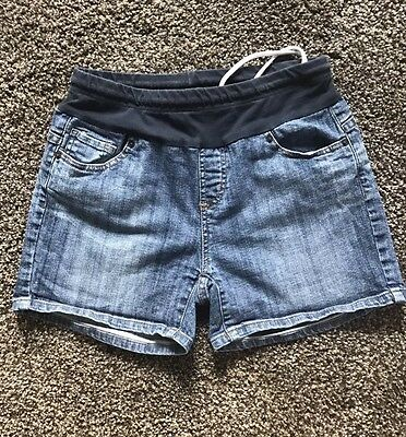 American Star Women's Junior's Maternity Denim Blue Jean Shorts Size Small S