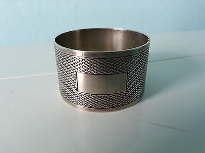 Vintage - Solid Hallmarked Silver Napkin Ring 1945 by H.Phillips