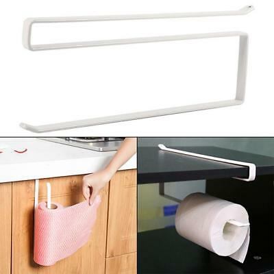 Under Cabinet Door Drawer Towel Holder for Paper Roll White Kitchen Tools New LD