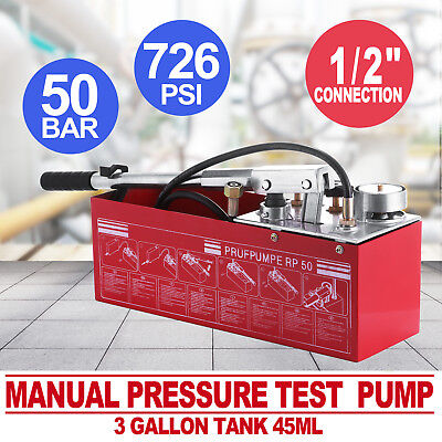 RP50 Pressure Test Pump 12 Litre Oil and Water Heating System Leakage Tester