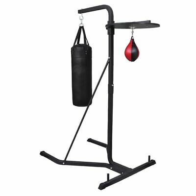 Multistation Boxing Punching Kick Bag Free Standing Speed Ball Home Gym Exercise