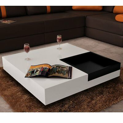 New Modern White Coffee Table Side Bedside Office Kitchen Furniture High Gloss