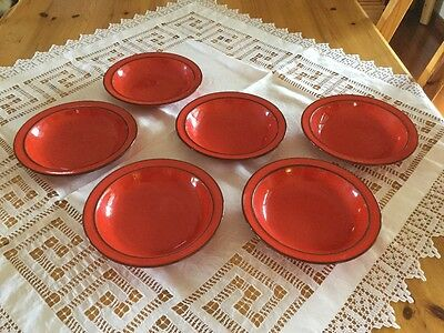 'Thomas' Red Soup Bowls (x6) Made in Germany
