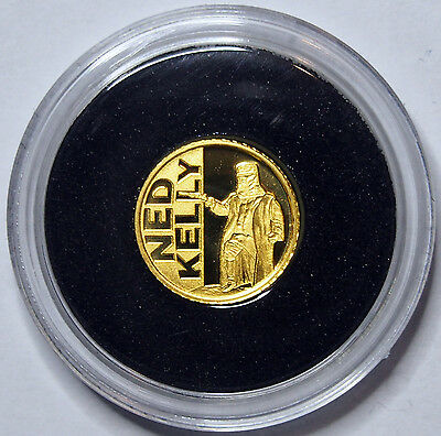 2010 - Ned Kelly - Legal Tender 0.5 Gram Gold Coin - Niue - .999 Fine - $5 Proof