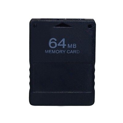 Black 64Mb Memory Card For PS2 Ps 2 Playstation 2