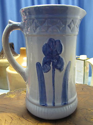 Antique Blue And Gray Pitcher, Circa: Early 1900's