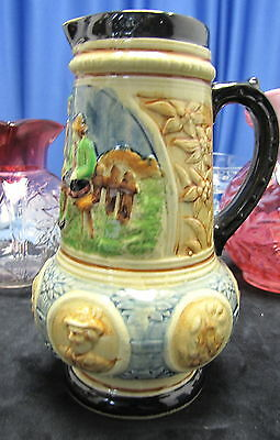 Hand Painted Japan, Tankard Kyoto, Excllent Condition  Circa: 1920-1940