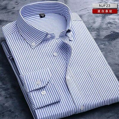 Great! Mens Non-iron Point Collar Long Sleeve Casual Business Dress Shirt 38-44