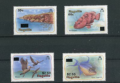 Anguilla QEII 1984 Maritime surcharges SG607/10 MNH
