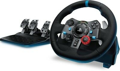 Logitech G29 Driving Force Racing Steering Wheel for for PS4/PS3/PC ✔NEW✔