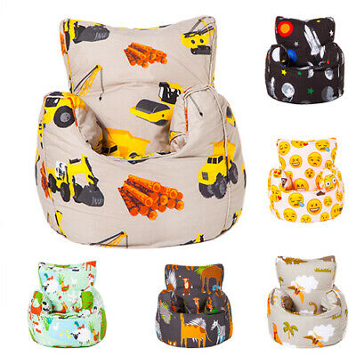 Children's Toddler Bean Bag Armchair Seat Kids Beanbag Chair Bedroom TV Play