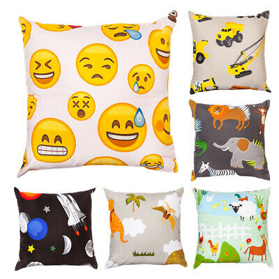 Childrens Scatter Cushions Filled with Pads Room Décor Bedroom Kids Boys Girls