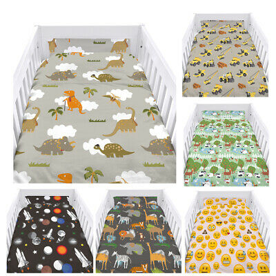 Childrens Cot Size Duvet Cover Set with Pillow Case Bedding Kids Boys Girls Baby