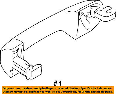 Oem New Genuine 2010 2013 Ford Transit Connect Outer Door Handle