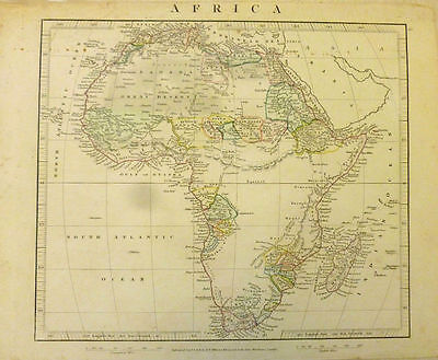 Mid. 19th Century Map of Africa by Aaron Arrowsmith.