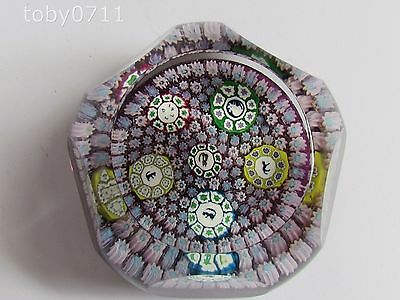 PERTHSHIRE PAPERWEIGHT FACETED CARPET GROUND - SILHOUETTES (Ref2123)