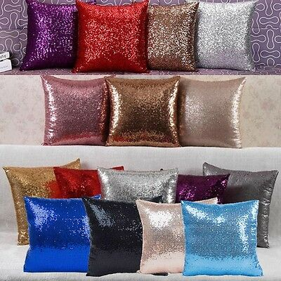 Shiny Beaded Cushion Cover Glitter Sequins Throw Pillow Case Home Decor Hot Sale