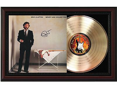 "Eric Clapton - Money and Cigs Cherrywood Reproduction Signature Display. ""M4"""