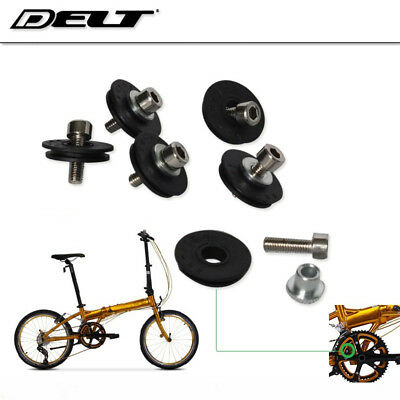 Folding Bicycle derailleur pulley front shift cable guide wire  bike wheel