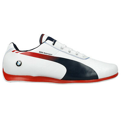Puma BMW MS Evo Speed 1.3 Ultra Schuhe Motorsport Herren Weiß Sneaker Leder Cat