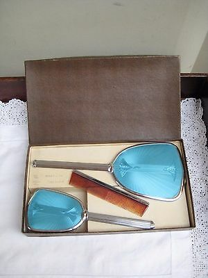 Boxed Vintage Hill Bros Raymoloid Dressing Table Set,Brush,Comb & Hand Mirror