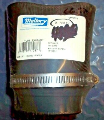 Mercury Marine Tube,exhaust (M/c 250) 78458A1 Mallory 72810 Replaces:18-2760